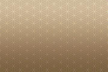 Hintergrund Muster Endlos - Blume des Lebens Braun 2