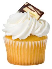Vanilla Cupcake Isolated
