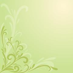 decorazione floreale verde