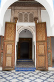 Arched entrance to the Bahia palace in Marrakech
