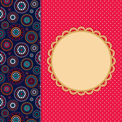 Invitation Card with Abstract Pattern Decoration Part.