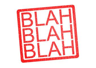 BLAH BLAH BLAH Rubber Stamp
