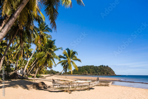 Tropical beach landscape