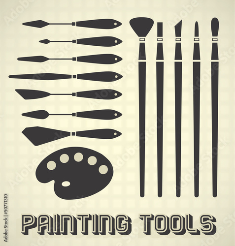 Vector Set: Painting Supplies