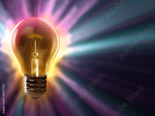 light bulb colorful background