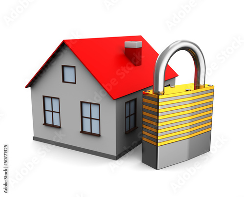 house with lock