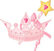 Princess crown and magic wand