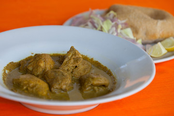Chicken chakuti, indian curry