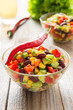 Mexican salad with hot pepper