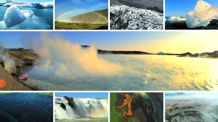 Montage Images Natural  Environmental Beauty Iceland