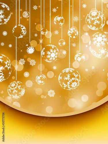 Merry Christmas greeting card. EPS 8