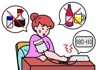 高血圧の女性