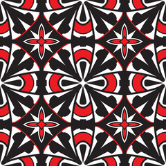 Abstract tiles, geometric seamless pattern