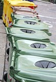 baskets and bins for separate waste collection of glass and bott