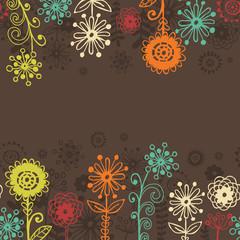 Horizontal floral seamless border