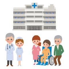 病院と人物