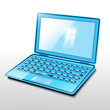 Laptop blue.Vector