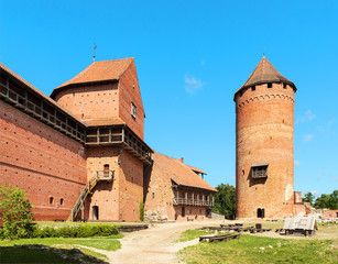 Ruins of medieval Turaida castle museum in Latvia