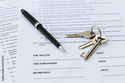 Leinwanddruck Bild Real estate sale