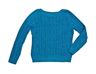 clothes for females - blue sweater on the white