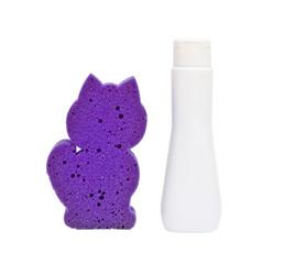 Children's shampoo and sponge