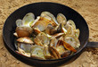 clams to the frying pan