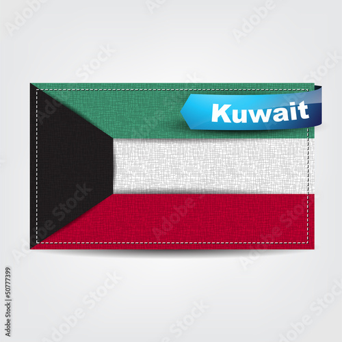 Fabric texture of the flag of Kuwait