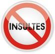 panneau interdiction insultes