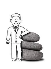 illustration of zen smiling businessman