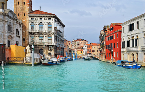 Beautiful water street - Venice, Italy - 50777972