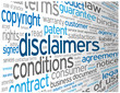 """DISCLAIMERS"" Tag Cloud (terms and conditions legal info button)"