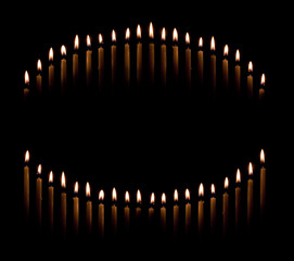 taper candles make circle