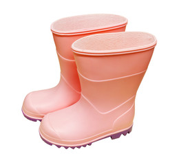 Pair of isolated pink wellies