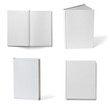 Leinwanddruck Bild - book notebook textbook white blank paper template