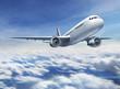 canvas print picture - Flugzeug fliegend
