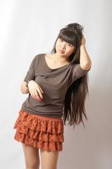 young asian model. Studio shot.