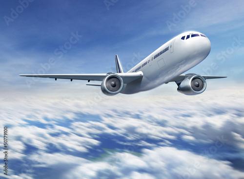 Poster Flugzeug fliegend