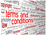 TERMS AND CONDITIONS Tag Cloud (use contract disclaimers)