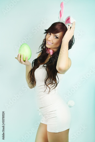 woman dressed as a rabbit