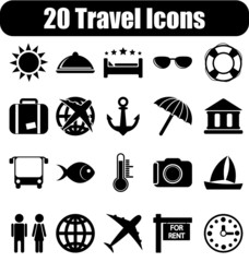 20 travel icons