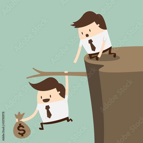 Fiscal cliff, crisis concept