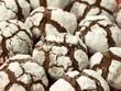 Black and white cookies, closeup