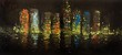 painting of a city at night - 50781146