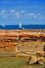 Punta de Sa Pedrera coast in Formentera, Balearic Islands, Spain