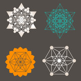 Sacred geometry vector unique design collection