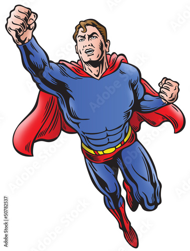 Superhero with space for logo