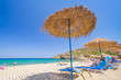 Holidays on the beach of Aegean Sea, Crete