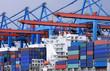 Containerschiff am Containerterminal 3