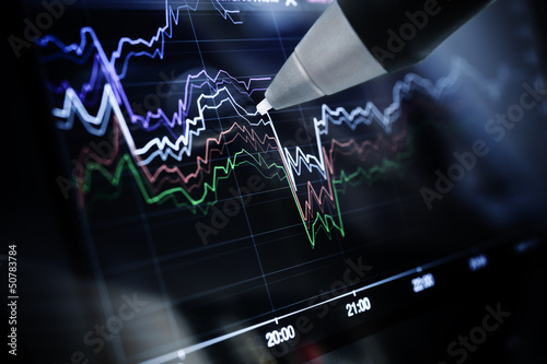 Business charts and markets