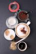 Café, espresso et cappuccino